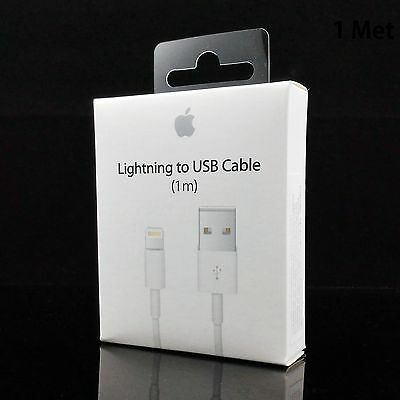 1M Genuine Apple iPhone 6 6S 7 Plus SE 5 5S iPad Lightning To USB Charger Cable