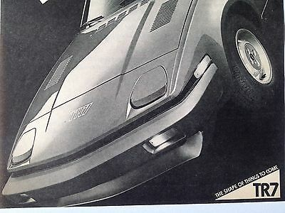 1978 Triumph TR7 Original Print Ad 'More TR7' British Leyland Motors
