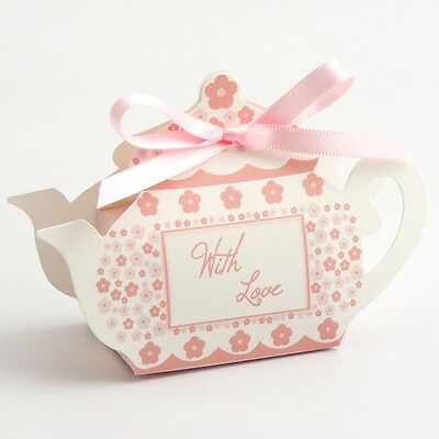 With Love Tea pot Box Pink Vintage Wedding or Tea Party Favor Decorations (10)