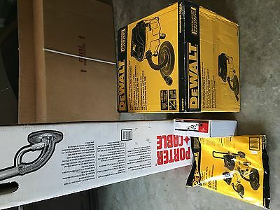 NEW Porter Cable 7800 with dewalt DWV010 vac & extras