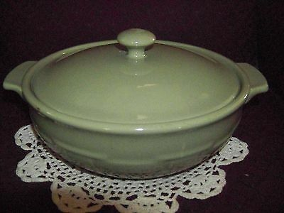 Longaberger Pottery Woven Traditions Sage Green 2 Quart Covered Casserole