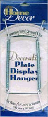 """Decorative Plate Display Hanger Expandable 7.5"""" To 9.5"""" White 5202-61"""