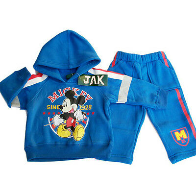 Mickey Mouse kids Boys hoodie tracksuits outfit size 0-4 AU stock fleece new