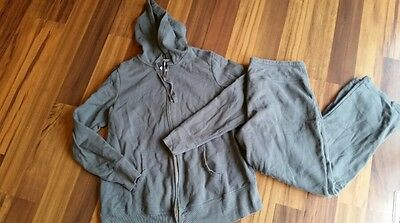 Womens Old Navy Maternity Gray Zip Up Hoodie Sweatshirt Pant Lounge Outfit XL 1X