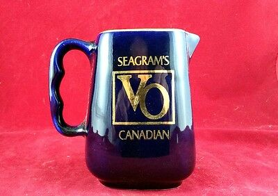 Vintage Seagram's Vo Canadian Whiskey Advertising Pitcher,  Ceramic (Very Rare)