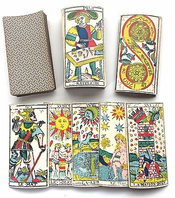 C.1860 Conver Marseille Tarot Cards Mid-19th Century France Very Rare Old Notes