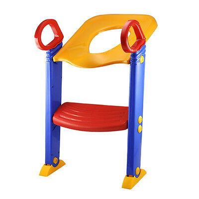New Child Toddler Kids Toilet Potty Trainer Training Chair Step Up Ladder S H8F5