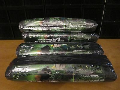 SCHMIDT WEED CONTROL FABRIC--LOT OF 4 ROLLS 5m X 1m--TOTAL 20 X 4 Meters