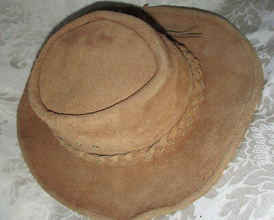 JUBILEE Leather Brown HAT Celebration of 200 Years Australia 1788 /1988 Size M