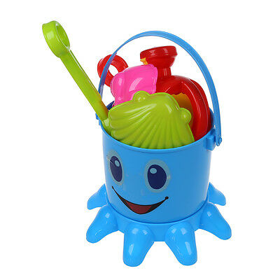 Color Lovely Cute Child Beach Octopus Baby Toy Large Hourglass Sand Tools B N3E1