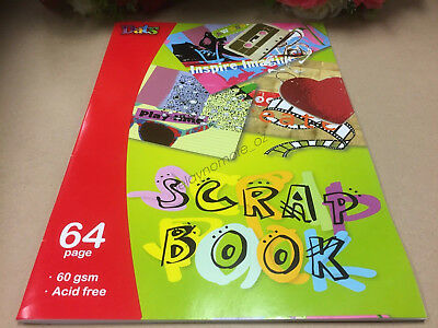 Scrap Book Drawing Painting 64 pages School Photo Album DIY Craft Paper 60 gsm