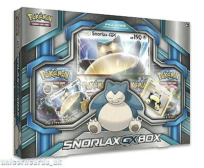 Pokemon TCG: Snorlax-GX Box :: 4 Booster Packs + Promo Cards :: New And Sealed!