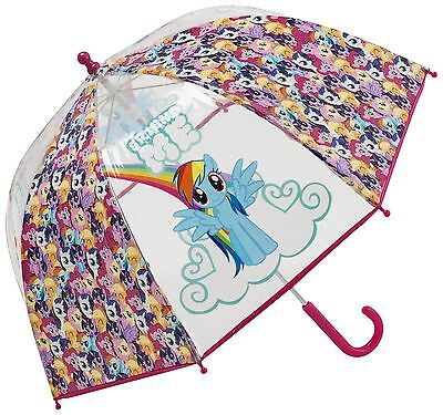 MY LITTLE PONY | Bubble Umbrella Kids RainBrolly Manual Large Girls Pony Collage