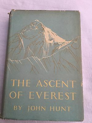 The Ascent Of Everest John  Hunt 1st Ed HB w DJ