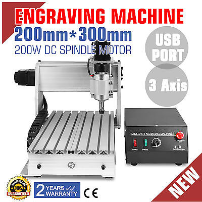 3 Axis 3020T Usb Cnc Router Engraver Cutting Desktop Engraving Carving Tool