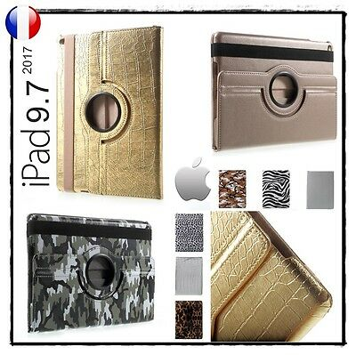 Etui Coque Housse Cuir PU Leather 360 Rotary Cover Case iPad 9.7 (2017)
