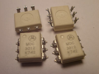 ( 10 Pc. ) Motorola Moc3012 6 Pin Surface Mt. Optocoupler, New