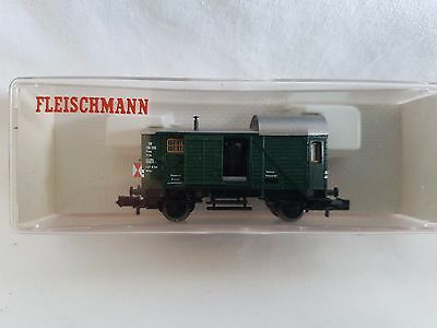 Fleischmann Piccolo 8301 Van With Interior Light German Db Railway Mint Boxed