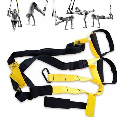 Suspension Exercise Gym Training Straps Set Yoga Fitness Stretch Workout New