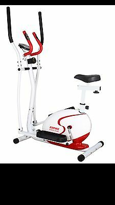 2 in 1 Magnetic Elliptical Cross Trainer and Exercise Bike