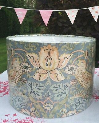 Strawberry Thief Slate (Duck Egg) William Morris Sanderson Fabric Lampshade