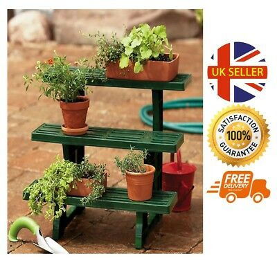 3 Tier Etagere Plant Garden Herbs Potted Flower Display Bench Rack Stand