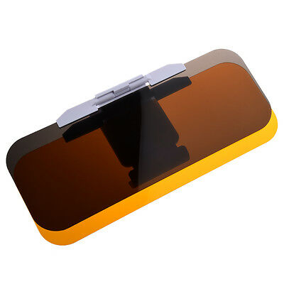 Clear Yellow No Glare Flip out Sun Visor Extender for Car Auto Y6U9