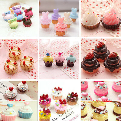 3/5pc Mini Cupcake Dollhouse Food Kitchen Miniature Phone Case Shell Cover Decor