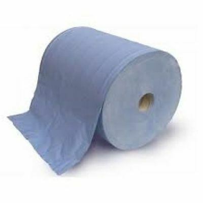 Floor Stand Wiper Rolls 2Ply Blue (Qty 2) Paper Towel, Automotive