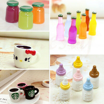 3/5pc Mini Cup Jam Bottle Drink  Miniature Kitchen Food Coffee Tea Cup Dollhouse