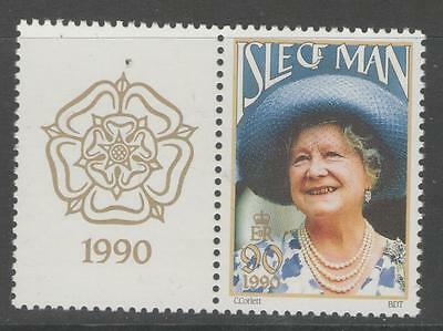 ISLE OF MAN SG448 1990 90th BIRTHDAY OF QUEEN MOTHER MNH