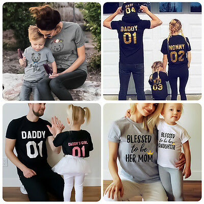 Couple T-Shirt Father Mother Son Daughter Matching Tops Family Outfit Clothes