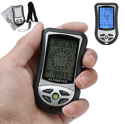8in1 Multifunction Altimeter Digital LCD Compass Barometer Thermometer Clock