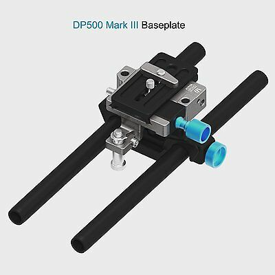 FOTGA DP500 MarkIII Quick Release 15mm Rod Rail Baseplate For BMCC A7R 5DIV DSLR