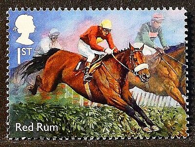 "Racehorse Legend ""Red Rum"" illustrated on 2017 stamp - Unmounted mint"