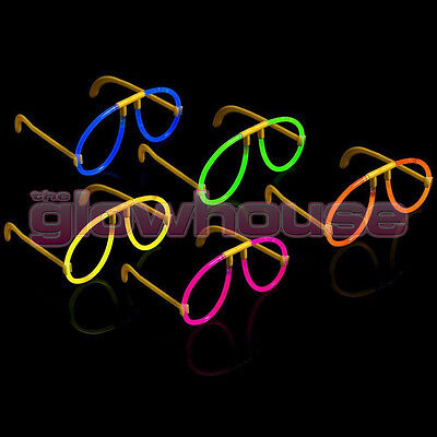 100 Glow Glasses - Glow Stick Bright Neon Glasses Parties Individually Wrapped