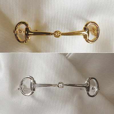 Equetech Snaffle Stock Pin Gold Horse And Equestrian