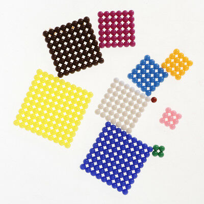 Kids Montessori Material Beads Sheet 1-10 Numbers' Square Root Learning Toy