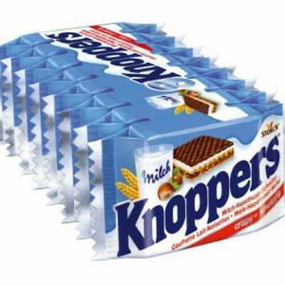 Knoppers 8/pack x3 MADE IN GERMANY