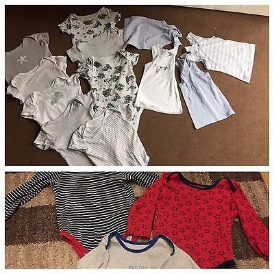 Boys 18-24 Months Bodysuits And Vests (new) 16 Items