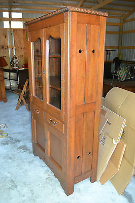 Wood Pie Safe Jelly Cupboard Cabinet Primitive Antique Farm kitchen