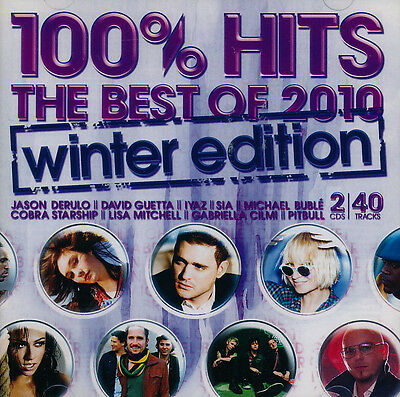 100%Hits The Best Of 2010 Winter Edition 2 CD Green Day Jason Derulo Sia Pitbull