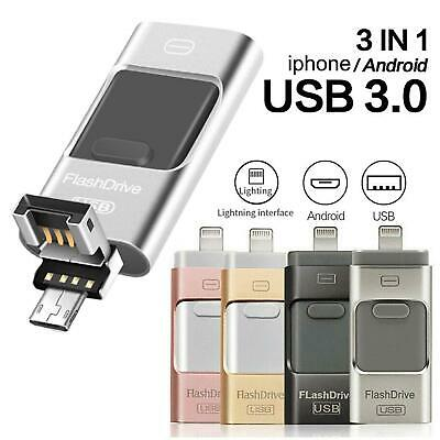 USB iFlash Drive Disk Storage Memory Stick For iPhone iPad PC Android ios 256GB