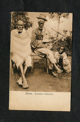 c1910 View of a Musician & Two other Men, Eritrea