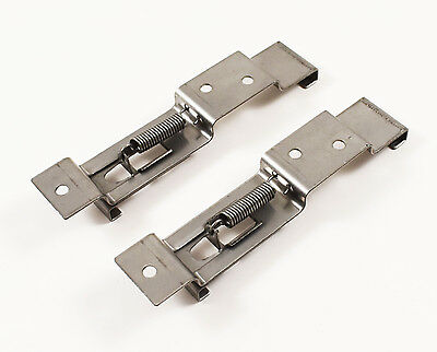 Maypole Quality 2 x Spring Loaded Number Plate Clamps / Holders For Trailers ETC