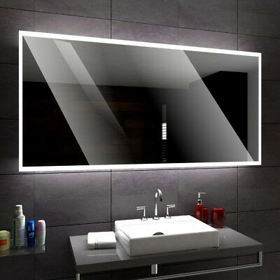 BOSTON Illuminated Led bathroom mirror  Custom Size Variants - To Measure