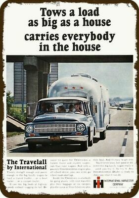 1966 INTERNATIONAL TRAVELALL 4X4 TRUCK Vintage Look METAL SIGN AIRSTREAM TRAILER