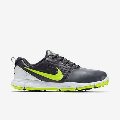 Nike Explorer SL Wide Golf Shoes - Dark Grey/ Volt-White - New In Box