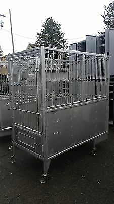 Allentown Inc. Cages Large Animal Canine Housing 304 Stainless Steel Cage
