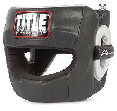 Title Platinum Headgear Full Face MEDIUM Boxing MMA Inv A
